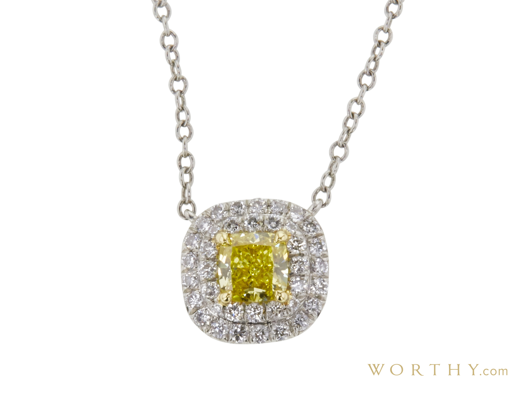 diamond diamonds topaz white hallmarked cushion miore itm cut necklace blue gem fully and gold pendant ct square