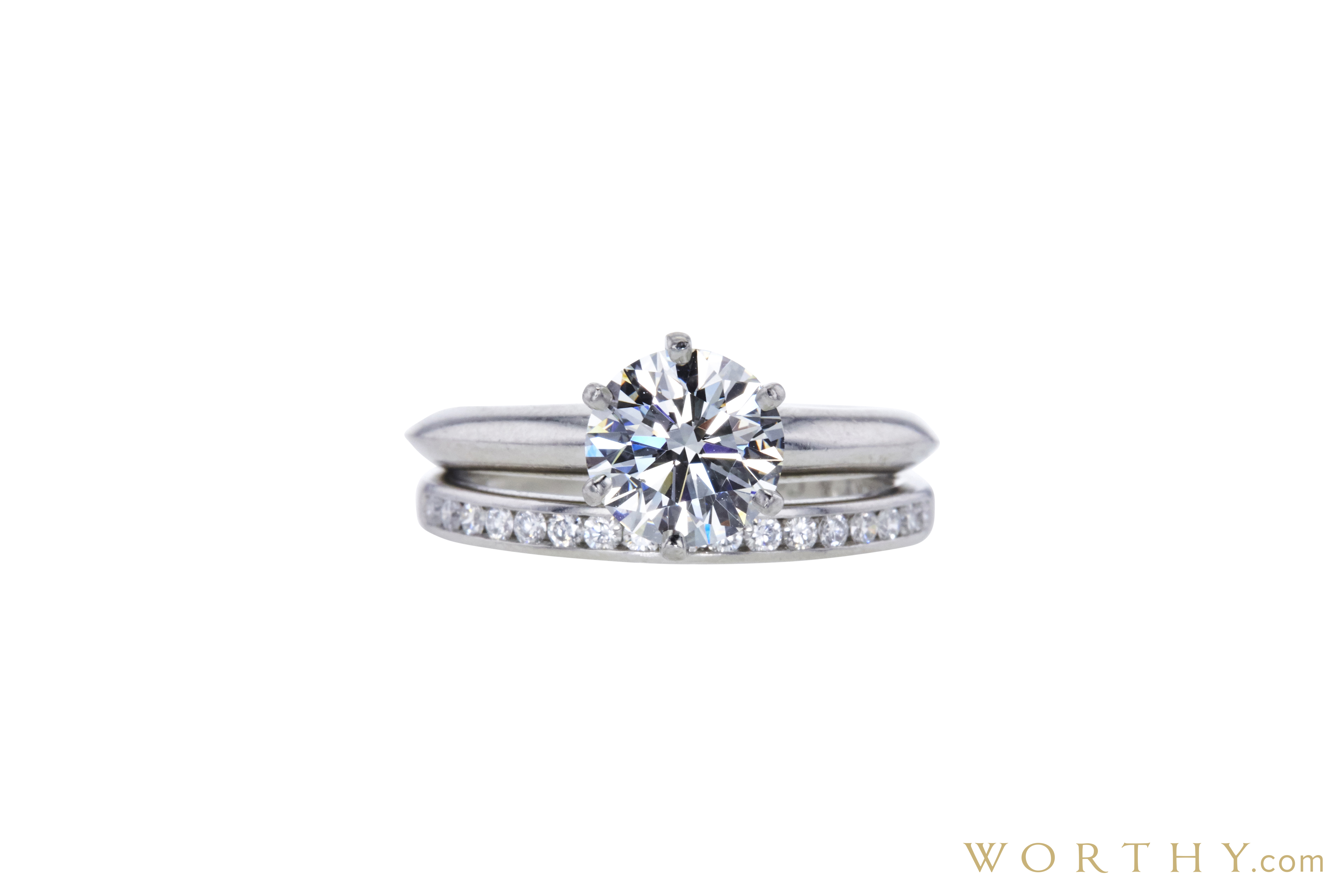 79768a3ea GIA 1.37 CT Round Cut Bridal Set Tiffany & Co. Ring, I, VVS2 Sold at ...