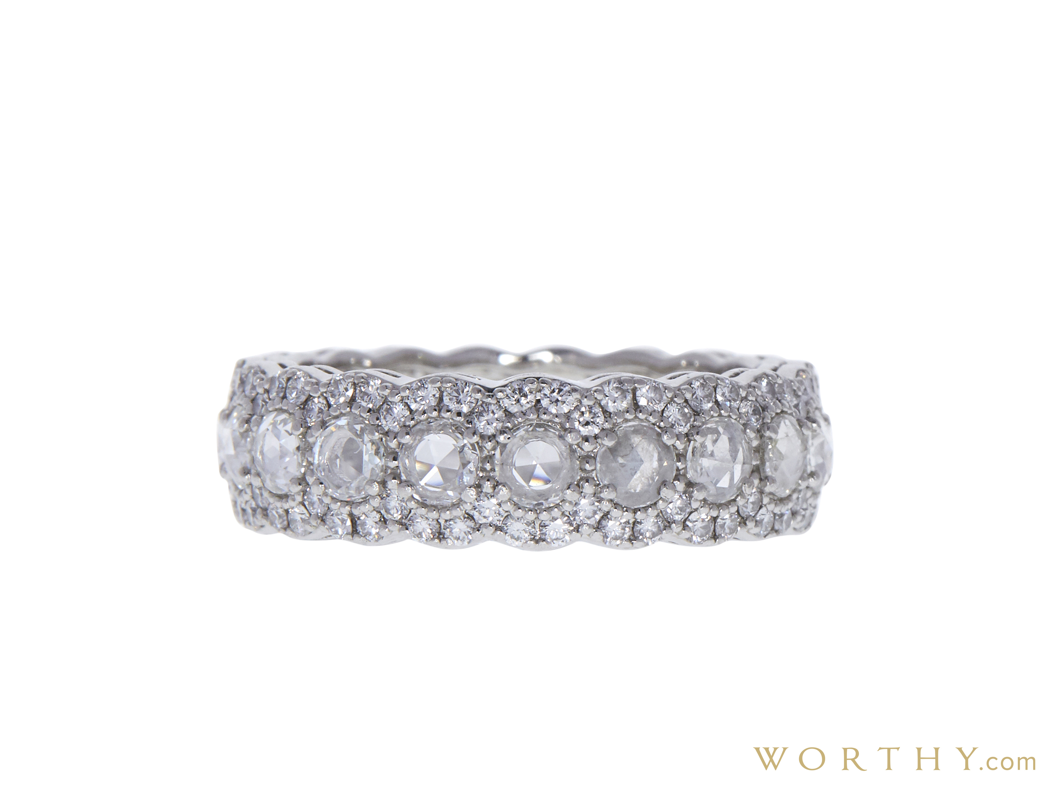6d9266029 Rose Cut Eternity Band Tiffany & Co. Ring, GH, VS1-VS2 Sold for $2500
