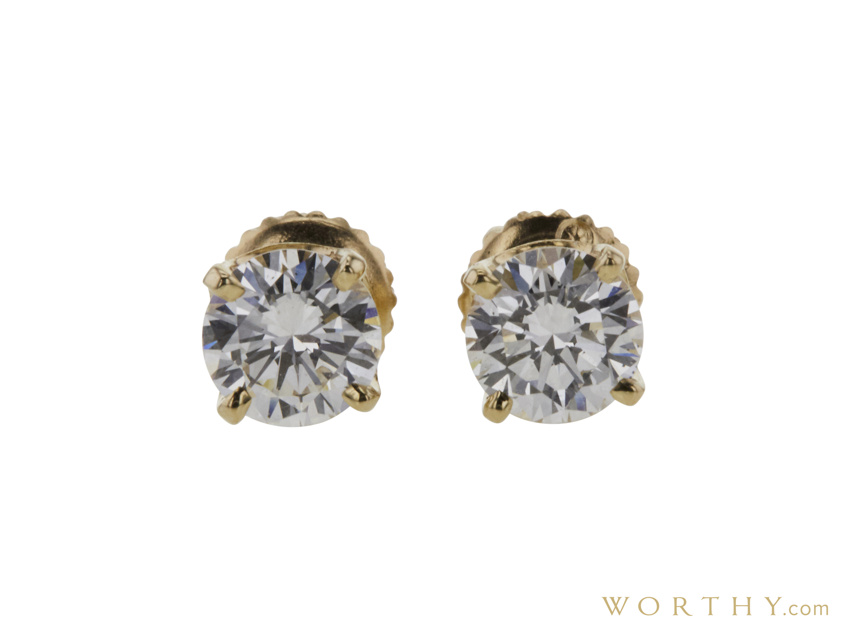 83179d278 GIA 0.62 CT Round Cut Stud Earrings, G, SI1 Sold at Auction for $1904