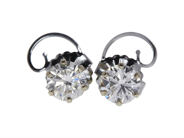 2.95 CTW ROUND BRILLIANT DIAMOND STUD EARRINGS
