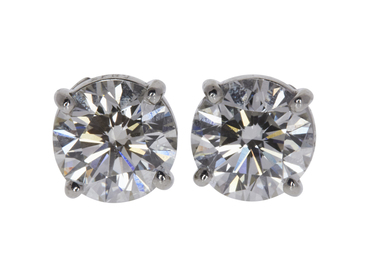 GRAFF 2.76CTTW 14K WHITE GOLD STUD EARRINGS