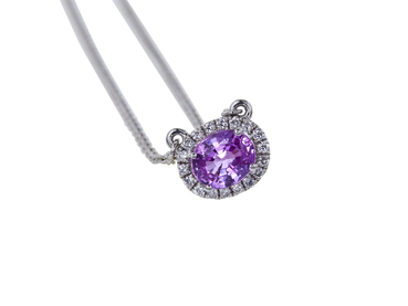 1.08 CT OVAL CUT PENDANT TIFFANY NECKLACE
