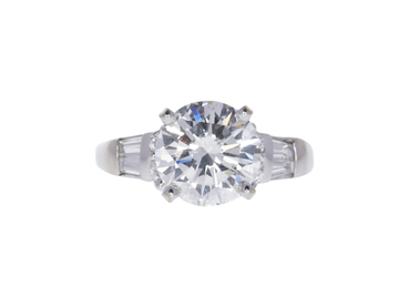 2.1 CT ROUND CUT SOLITAIRE RING