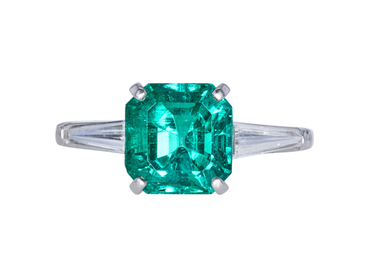 3.23 CT EMERALD CUT SOLITAIRE RING