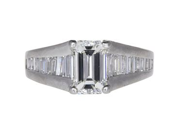 2.01 CT EMERALD CUT SOLITAIRE RING