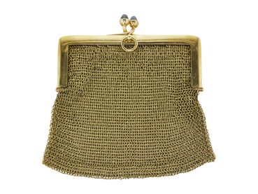 18K YELLOW GOLD MESH COIN PURSE