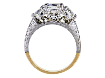 0.91 CT ROUND CUT BRIDAL SET RING