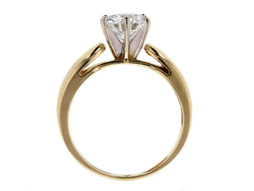 ANTIQUE GIA 1.35 CT ROUND CUT SOLITAIRE RING